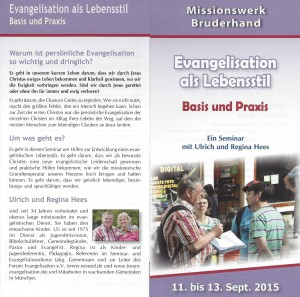 Evangelisation als Lebensstil - Theorie und Praxis